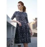 Apparalel Leopard Print Tiered Jersey Dress