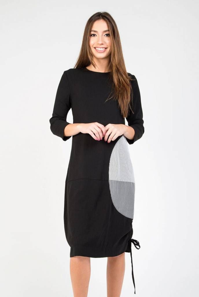 Static Side Detailed Bubble Dress