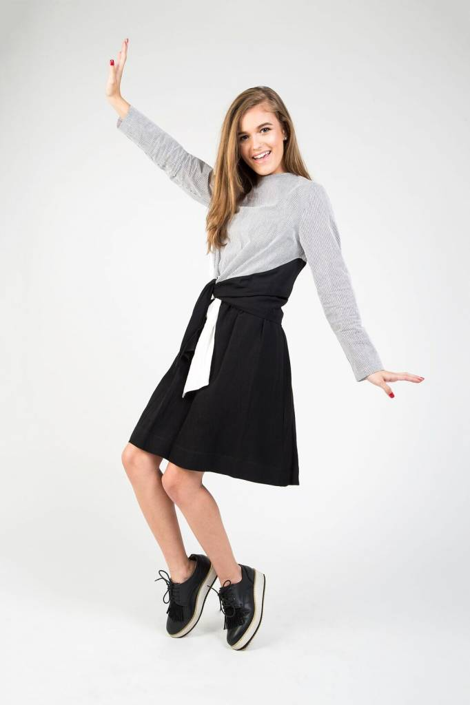 Static Front Tie Dress