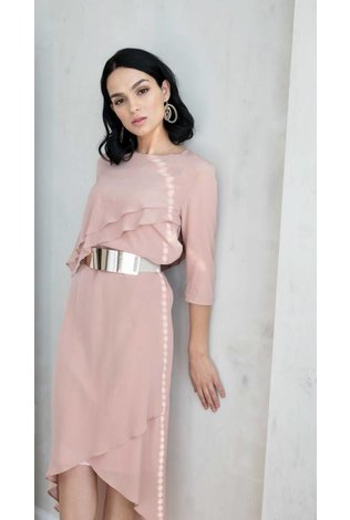 Ellie Makir Ellie Hi Low Dress Blush