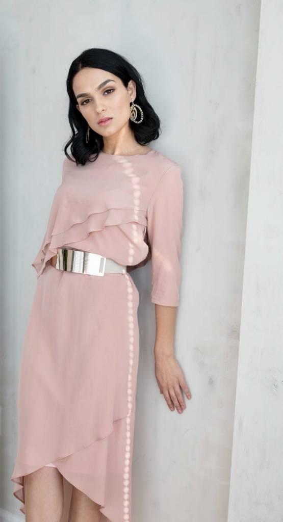 Ellie Makir Ellie Hi Low Dress Blush