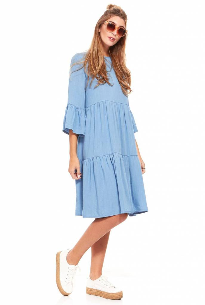 Bella Donna Denim Tiered Dress