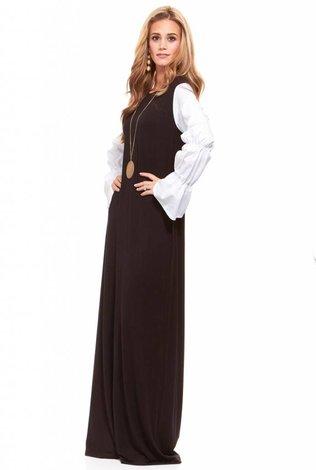 Bella Donna Poplin Sleeve Maxi