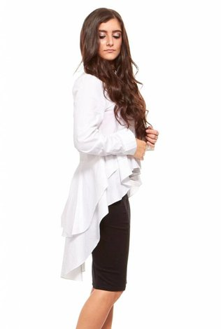 Bella Donna Hi Low Ruffle Shirt