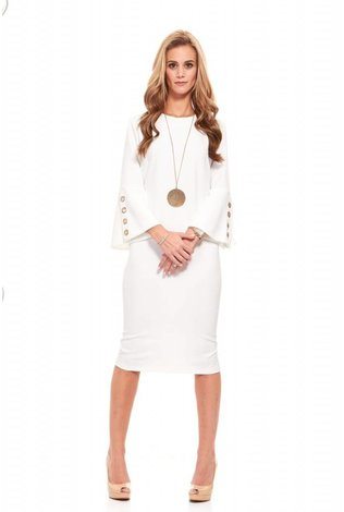 Bella Donna Ivory Sheath Dress