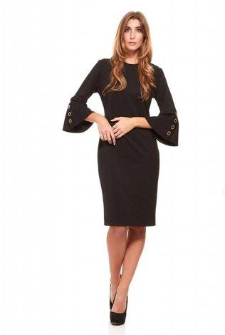 Bella Donna Black Sheath Dress