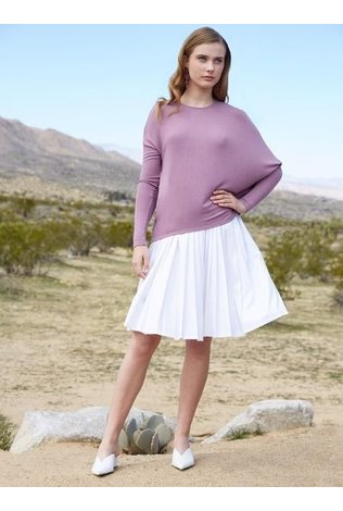 Third Lavender Asymmetric Sweater