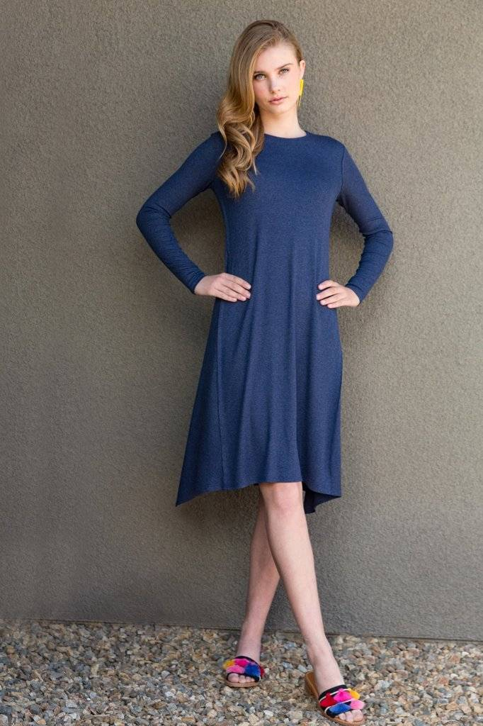 Third Ribbed Wave Dress