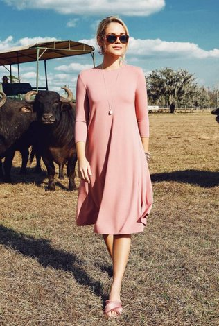 Pashmina Pink Classic Swing Dress