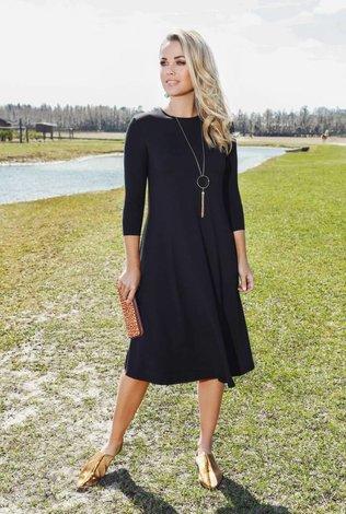 Pashmina Black Classic Swing Dress