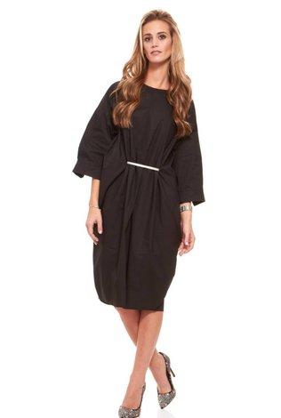 Bella Donna Cocoon Dress with Belt Detail
