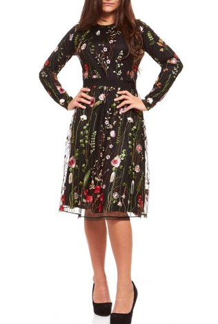 Bella Donna Embroidered Lace Dress