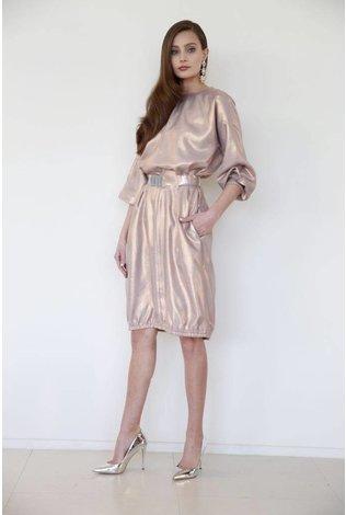 Third Rose Gold Metallic Dress
