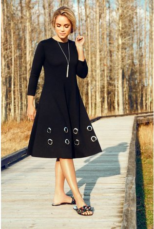 Pashmina Eyelet Dress