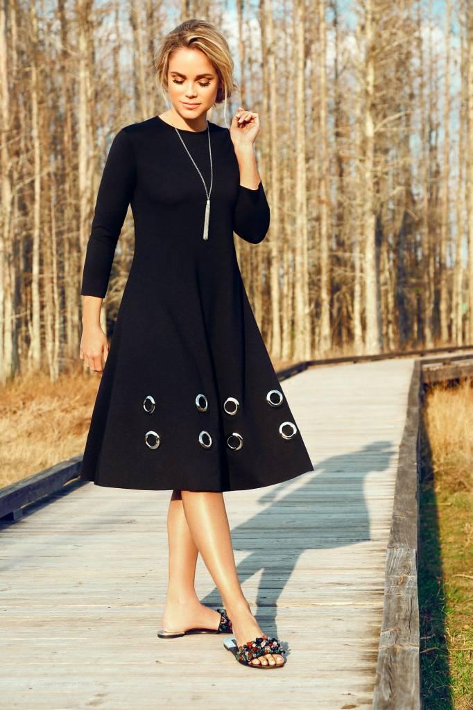 Pashmina Eyelet Dress