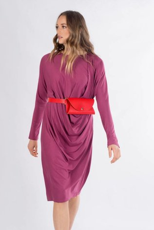 K2 Squared Fuchsia Drape Dress