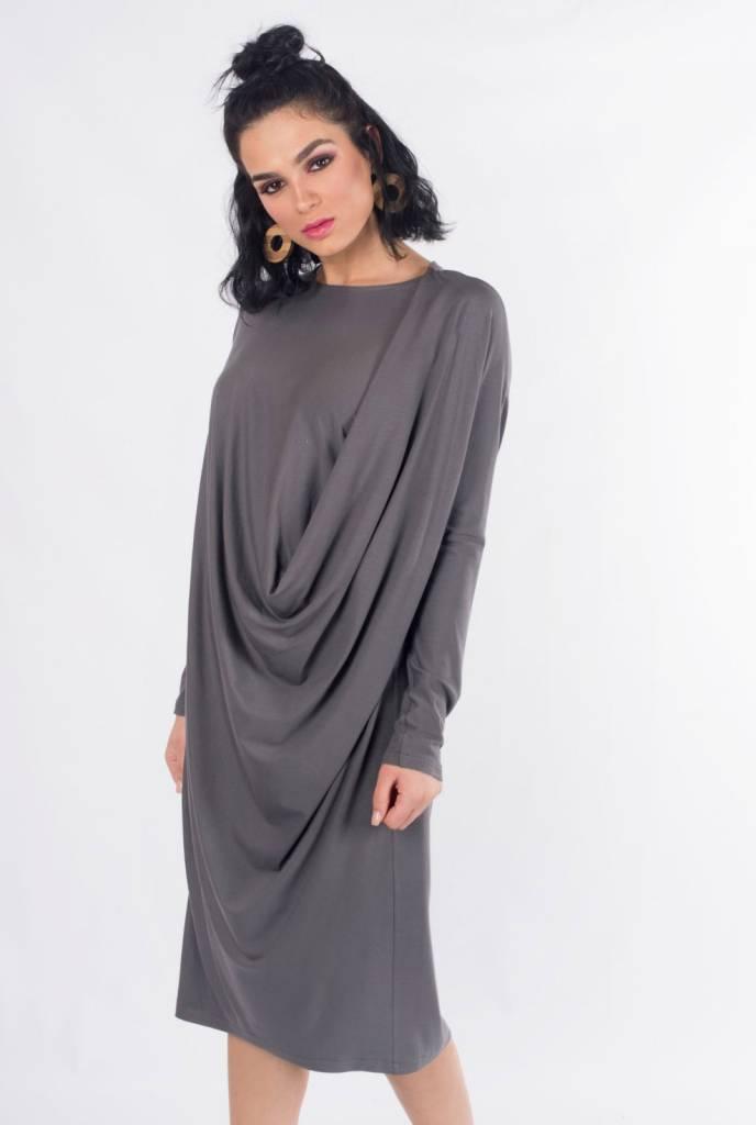 K2 Squared Gray Drape Dress