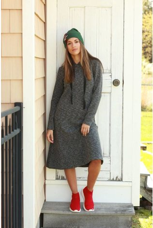 Tweed Hooded Dress