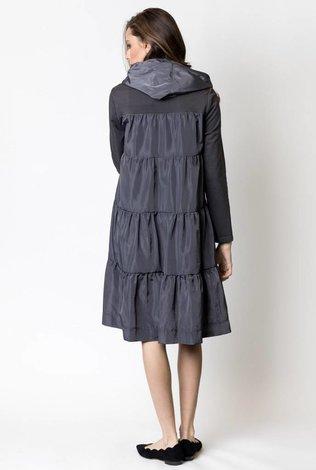 Harper Tiered Taffeta Sweatshirt Dress