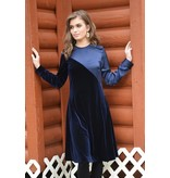 edit Diagnal Multi Velour Dress