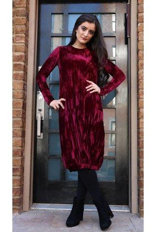 Bella Donna Crushed Velvet Bubble Dress