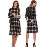 Bella Donna Ruffle Back Plaid Dress