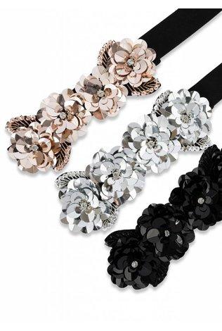 Two 12 Fashion Sequin Floral Belt
