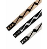 Two 12 Fashion Zig Zag Stretch Belt