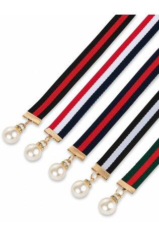 Two 12 Fashion Pearl Ribbon Belt