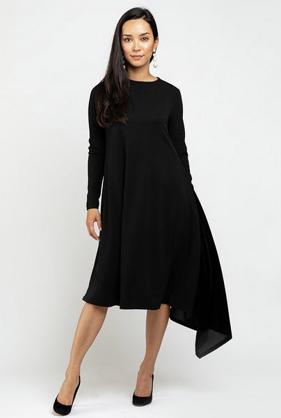 Ricciel Pleated Side Dress