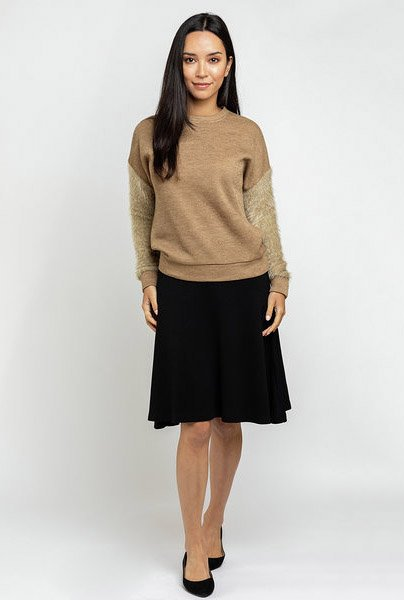 Ricciel Fuzzy Sleeve Sweater