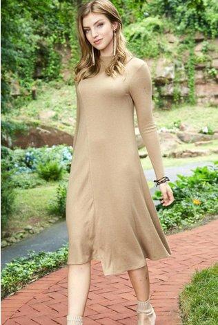Pashmina Funnel Neck Dress
