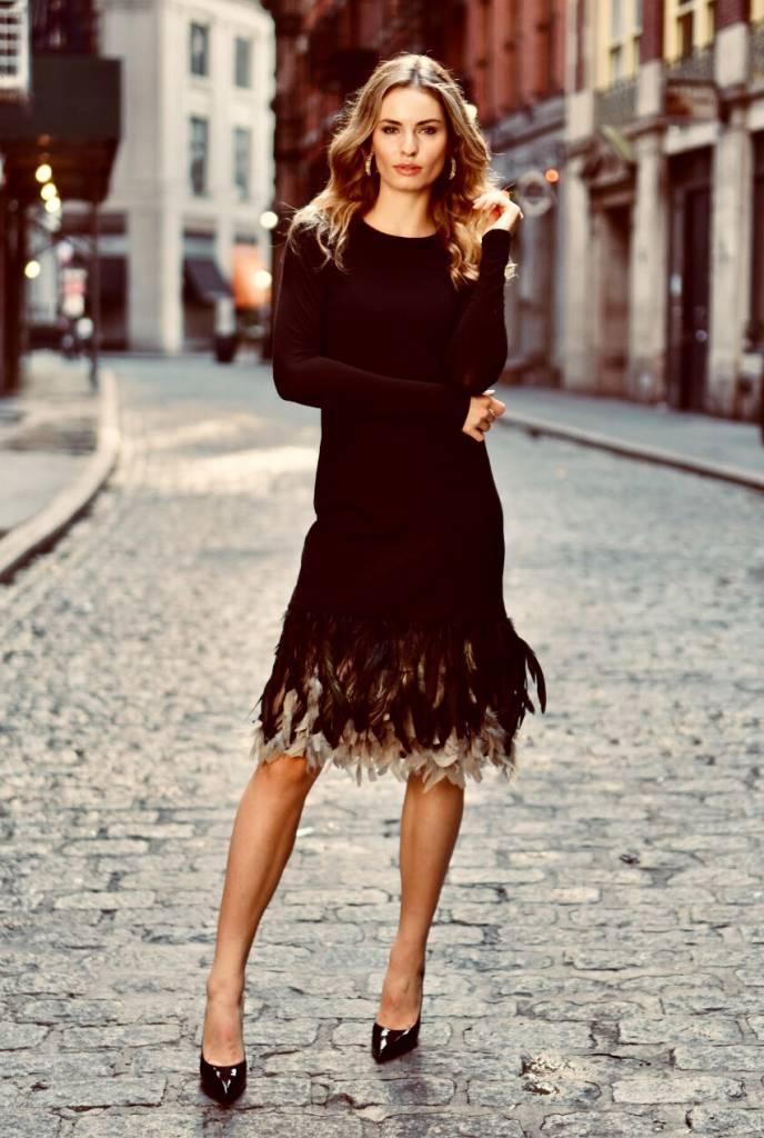 Ellie Makir Feather Dress