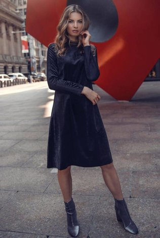 Ellie Makir Velvet Lace Dress