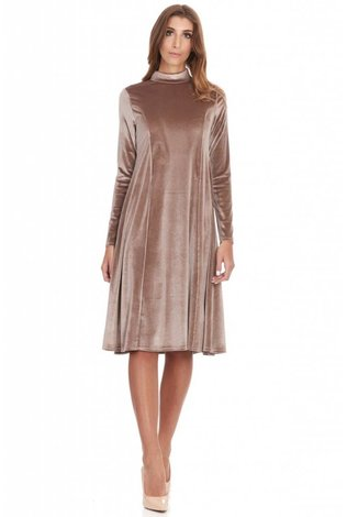 Bella Donna Mock Neck Velvet Dress - See more colors!