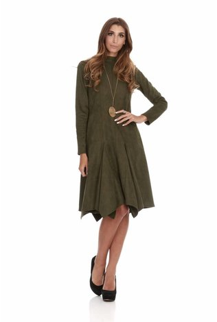 Bella Donna Suede Handkerchief Dress