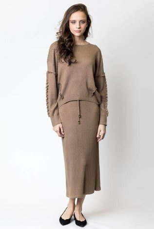Harper Ribbed Knitted Straight Set