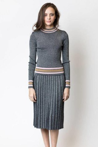 Harper Lurex Ribbed Striped Set