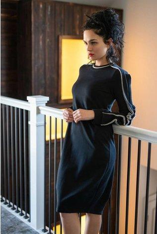 Ermanna Sweatshirt Dress with Ruffled Sleeves