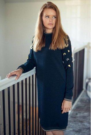 Ermanna Dress with Shoulder Applique
