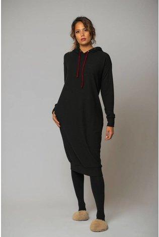 Friyay Ribbed Hoodie Dress
