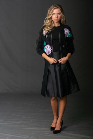 Front Row Couture Sheer Embellished Jacket