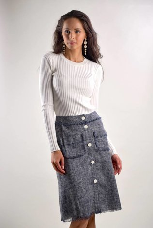 bliss Bliss Tweed Skirt