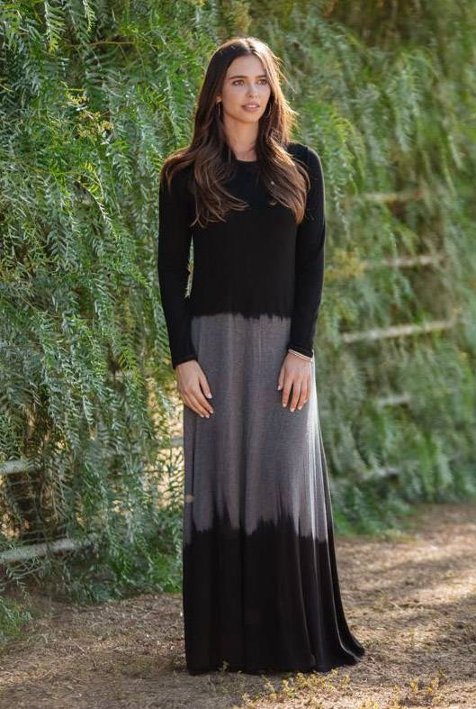 Go Couture Ribbed Tie Dye Maxi
