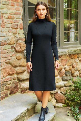 Pashmina Pashmina V-neck Sweater Dress