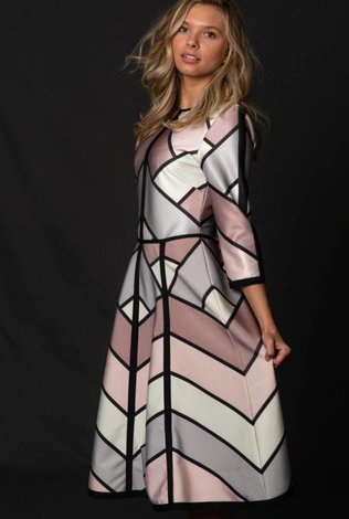 Front Row Couture Geometric Dress