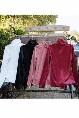 Go Couture Ribbed Velvet Turtleneck