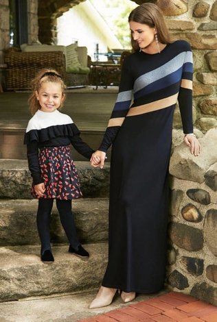 Pashmina Pashmina Sleeve Stripe Maxi