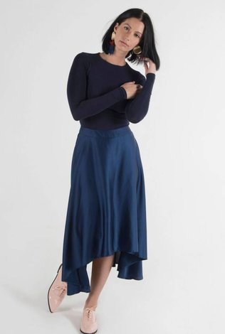 Code Silk Hi Low Skirt