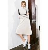 Pashmina Pashmina Sport Stripe Sweatshirt Dress Cream